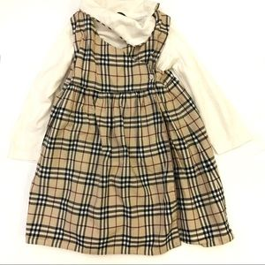 Burberry classic tan plaid full length dress 3